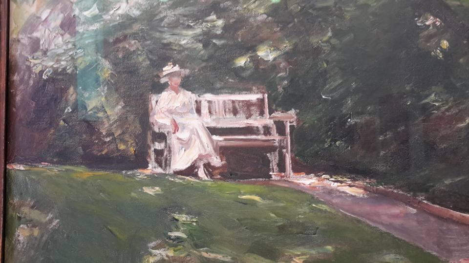 "Max Liebermann, ""Die Gartenbank"" (Le banc de jardin)"